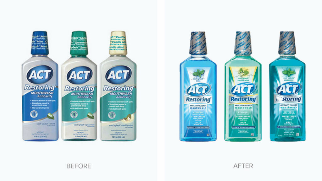 ACT Brand Packaging Before & After GGB