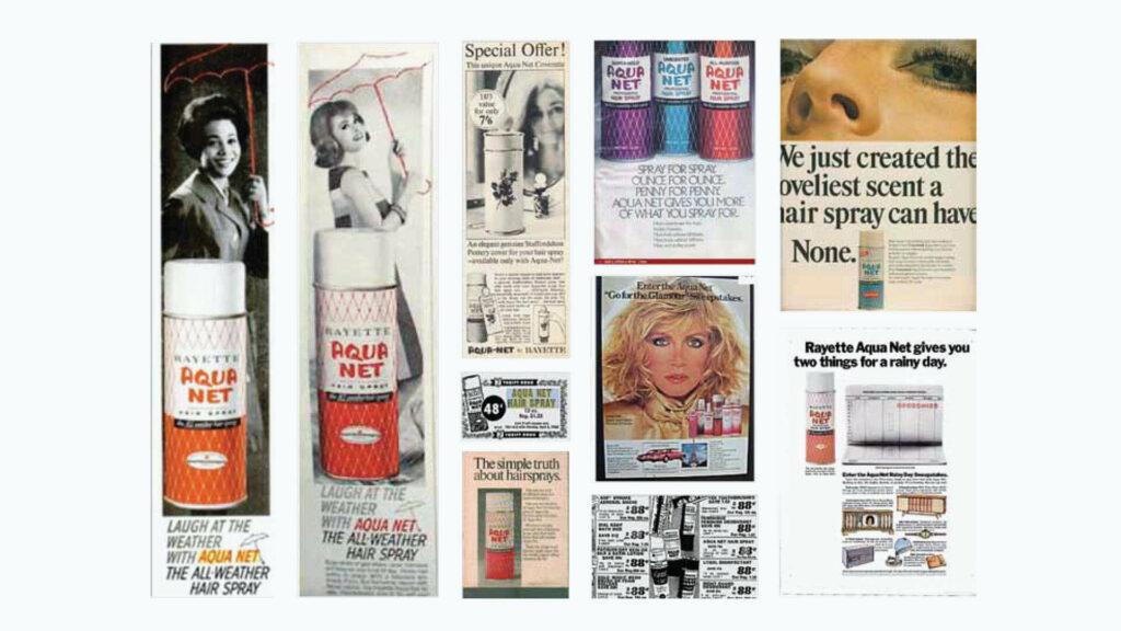 Aqua Net Brand Packaging Advertisement Archive