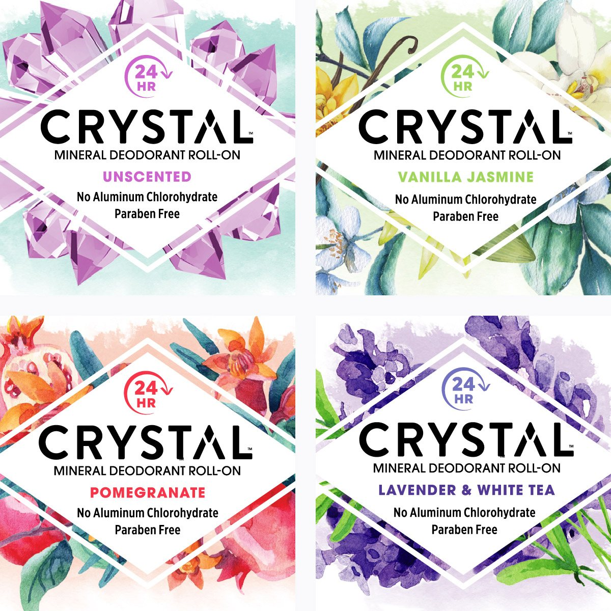 Crystal Deodorant Front Label Graphics