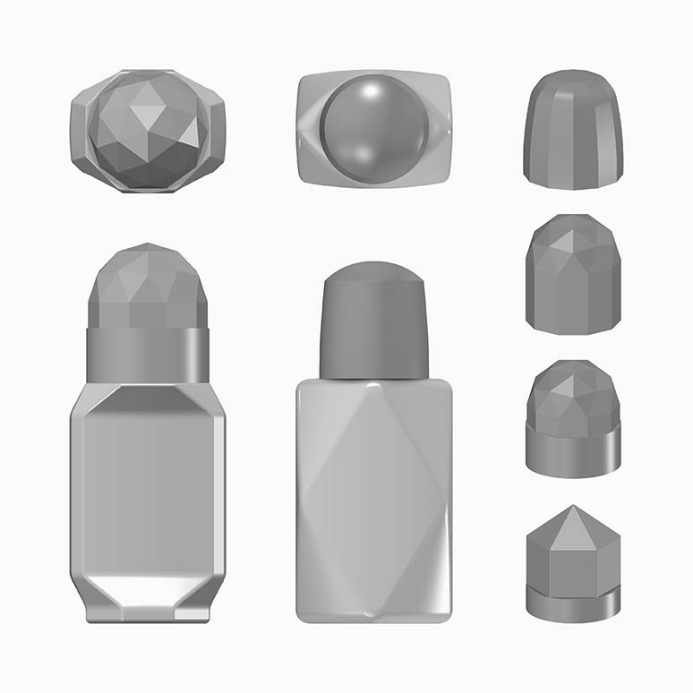 Crystal Deodorant Structure Gray Renderings