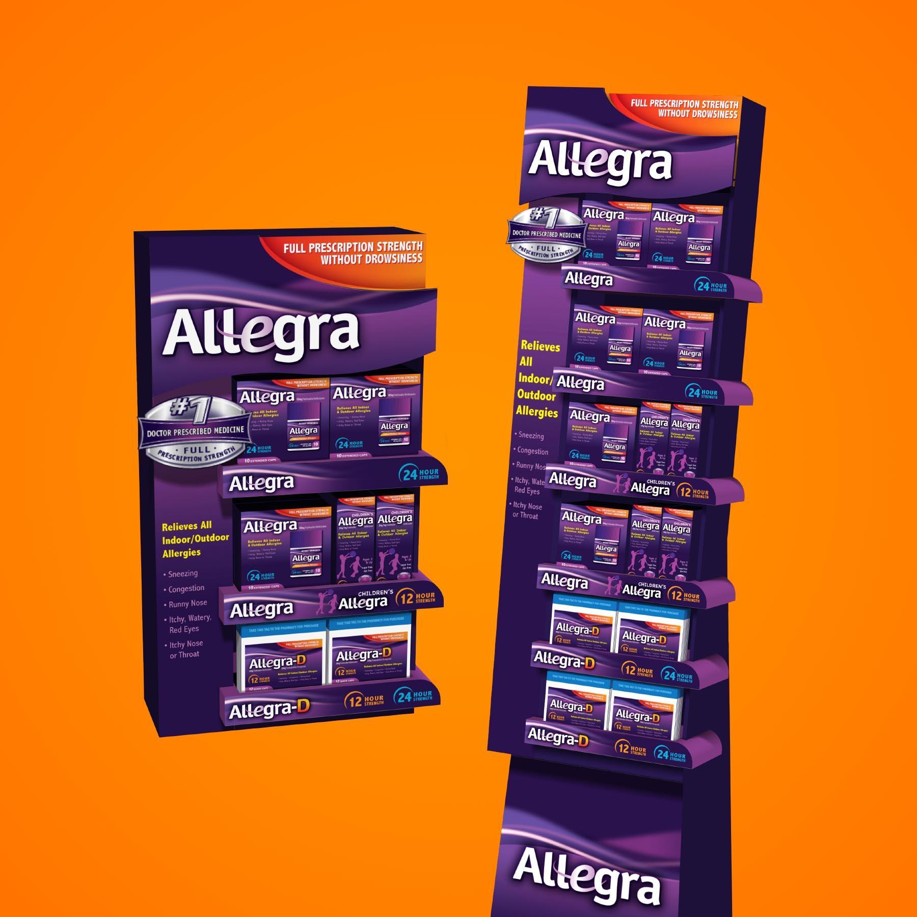 Allegra Allergy Point of Sale Display