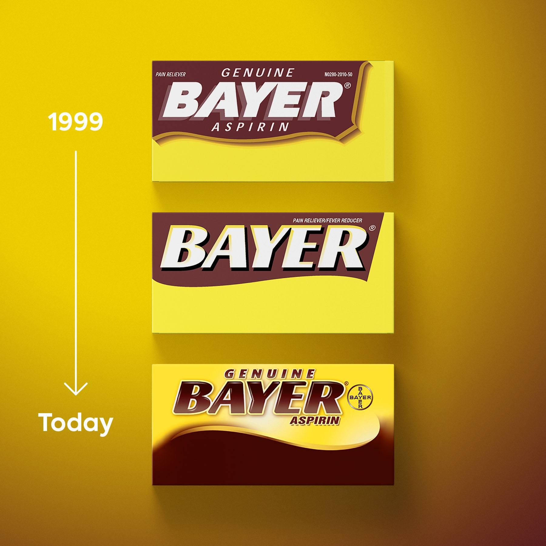 Bayer Aspirin Logo Timeline