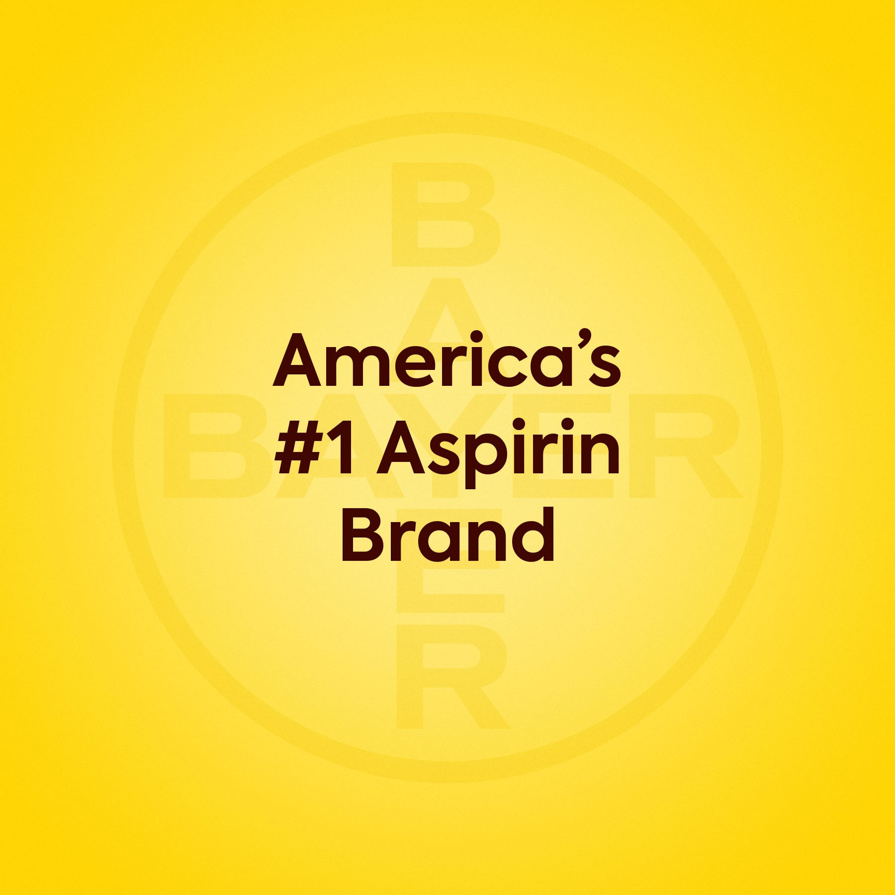 America's #1 Aspirin Brand