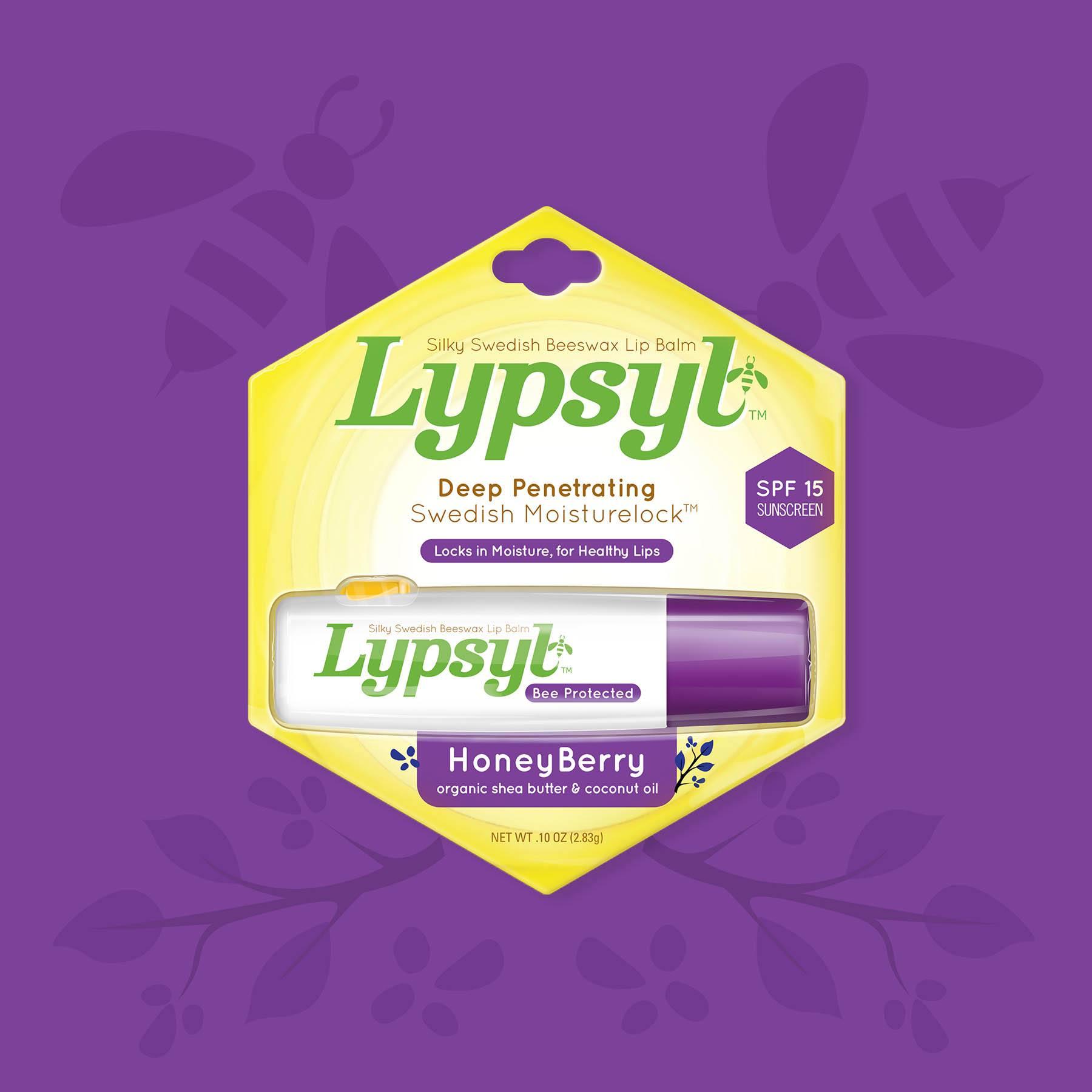 Lypsyl Lip Balm HoneyBerry Package Design