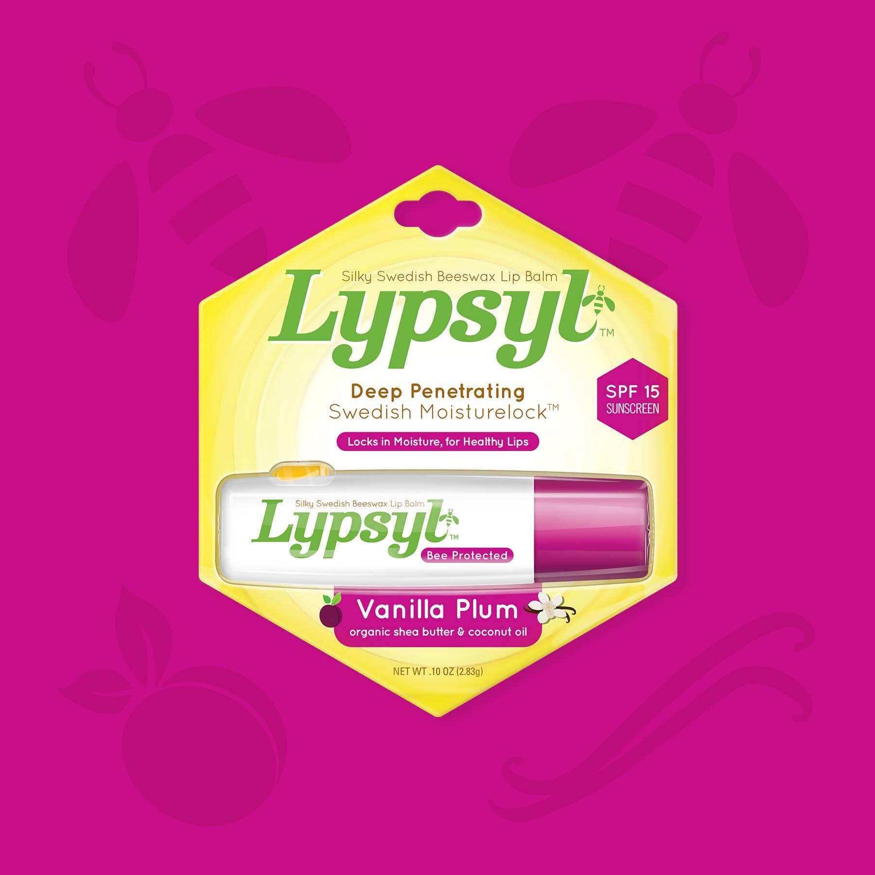 Lypsyl Lip Balm Vanilla Plum Package Design