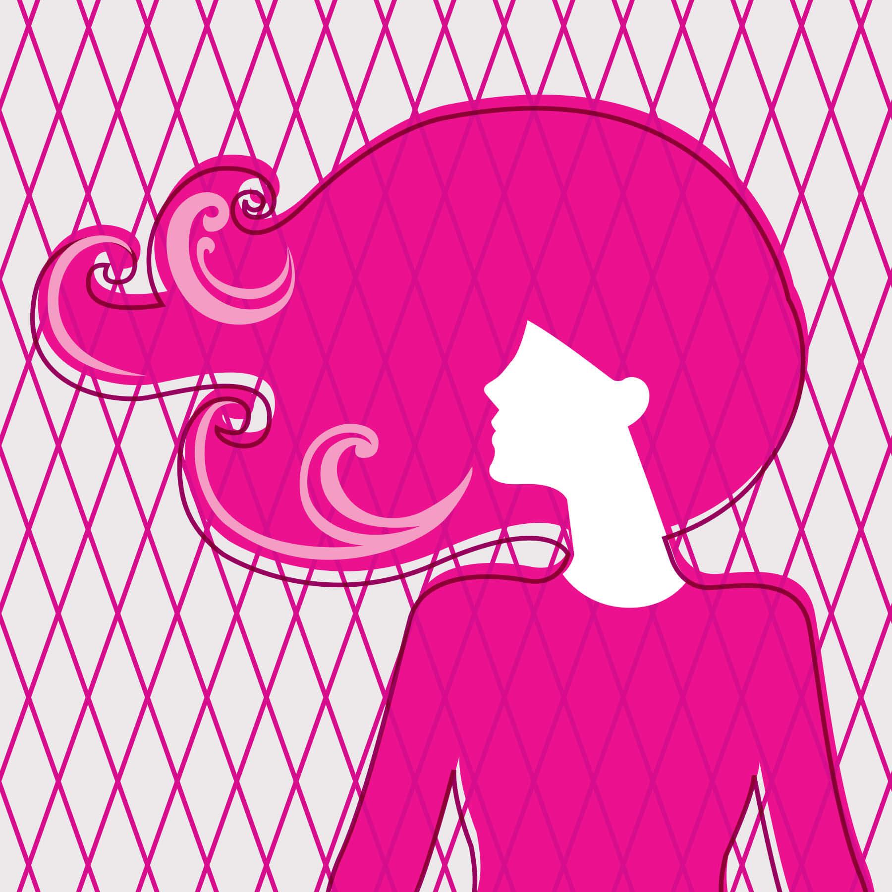 Aqua Net Woman Illustration