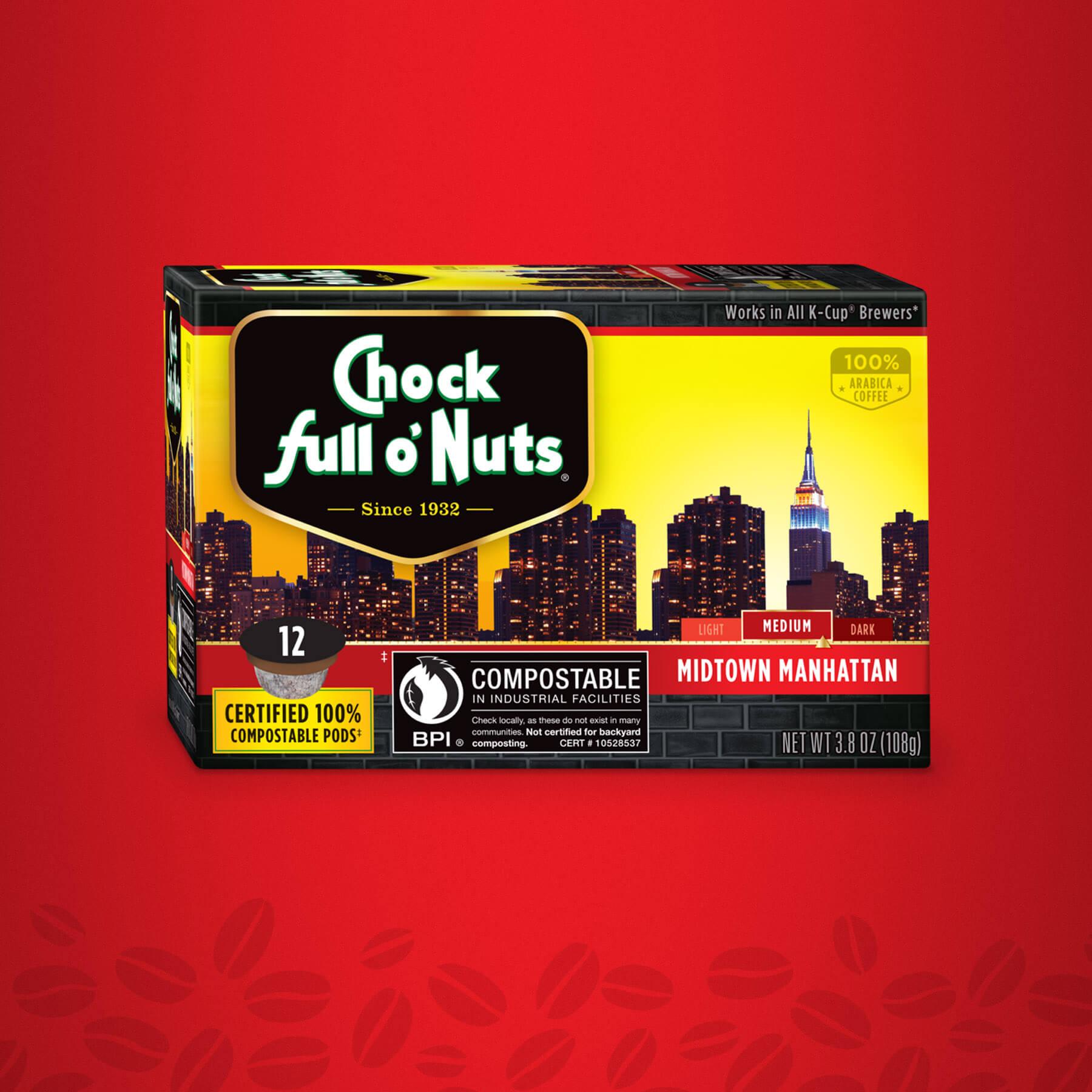 Chock full o' Nuts Midtown Manhattan Package Design