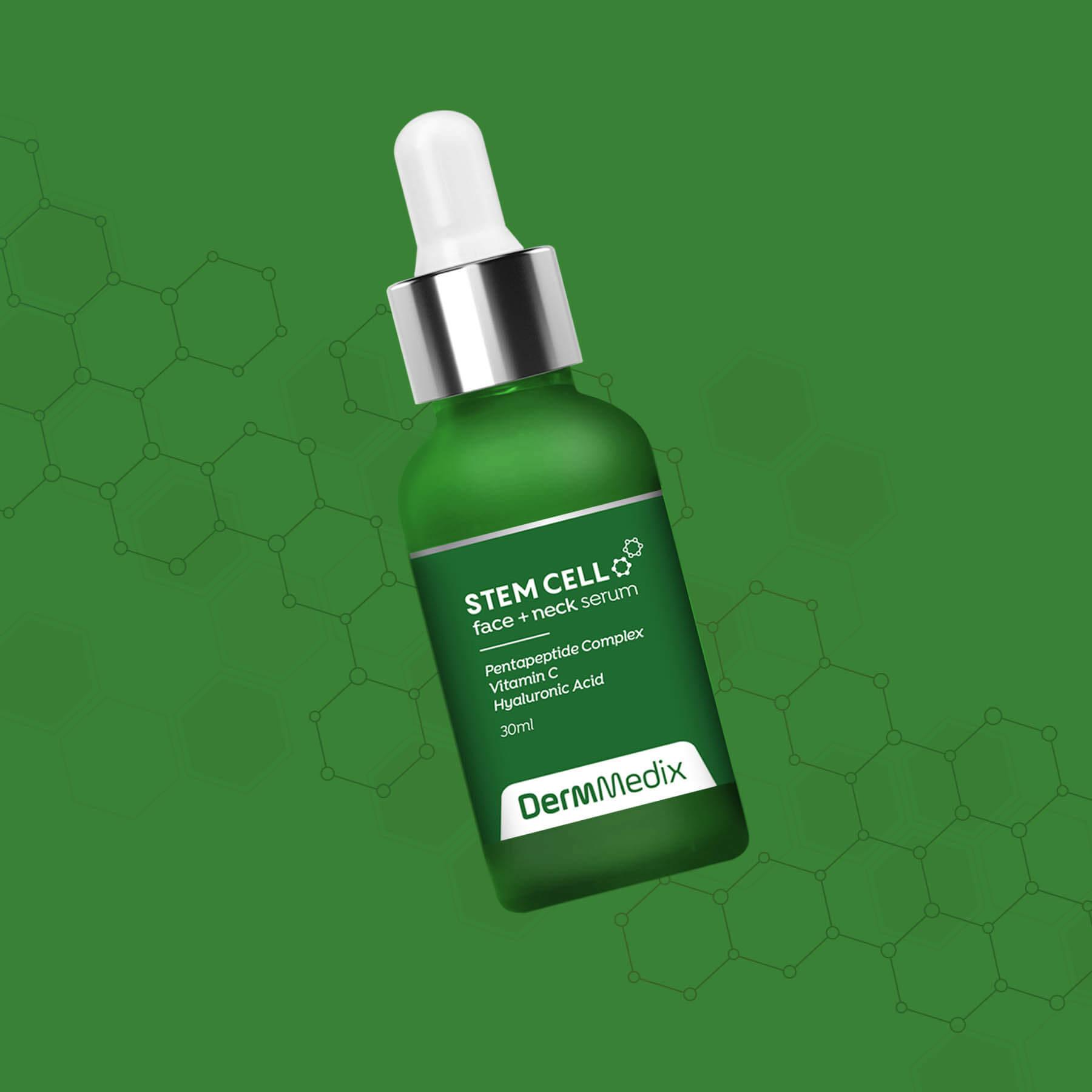 DermMedix StemCell Serum Package Design
