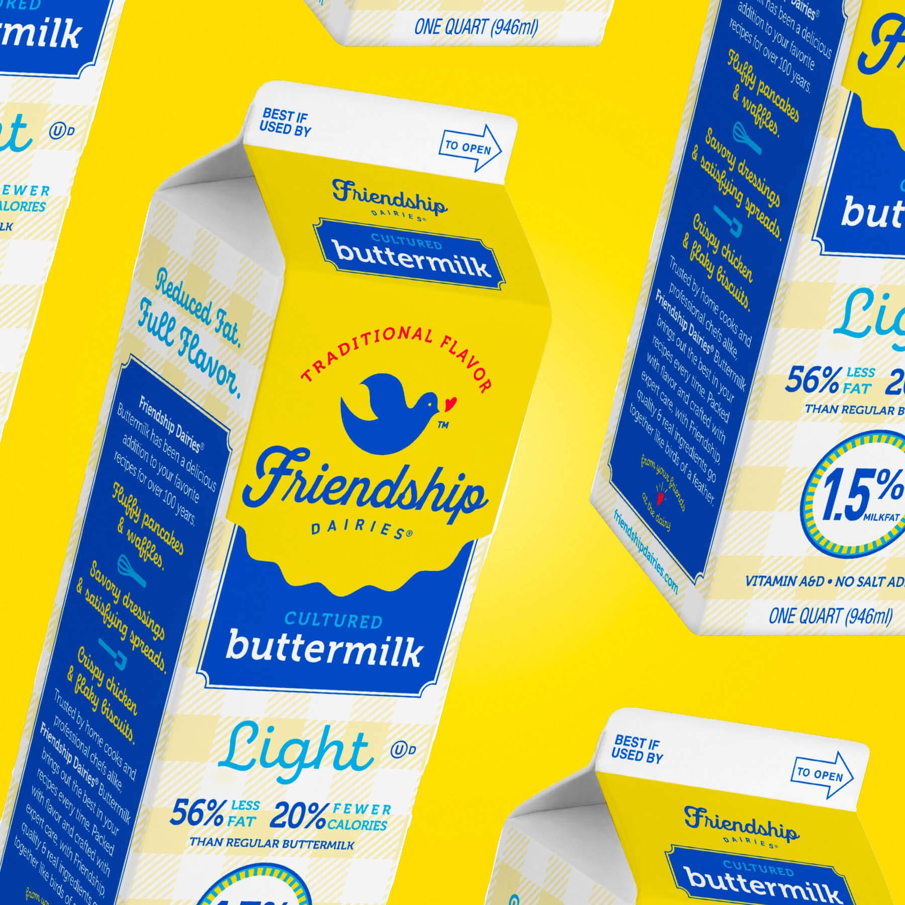 Friendship Dairies Buttermilk Package Design