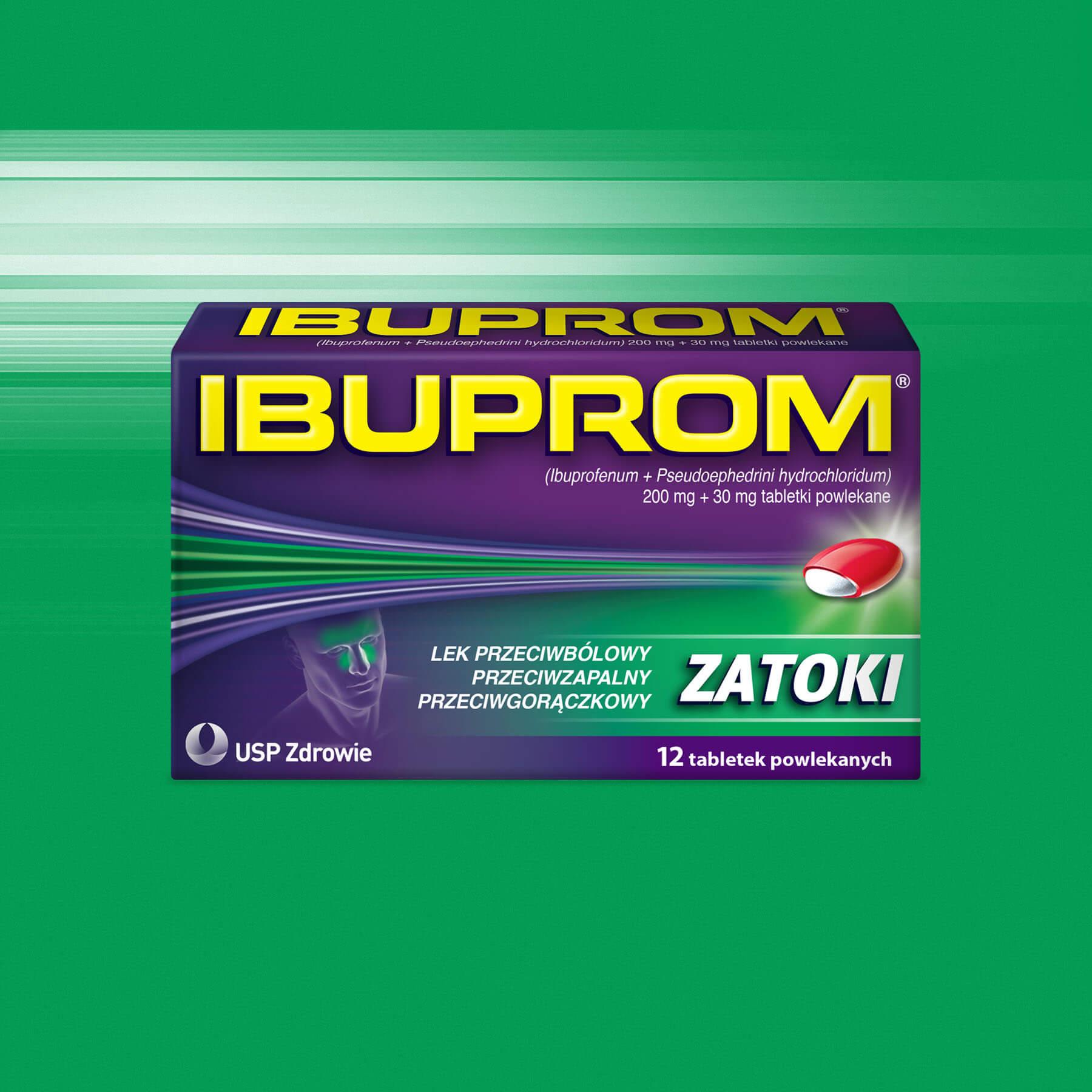 Ibuprom Zatoki Package Design