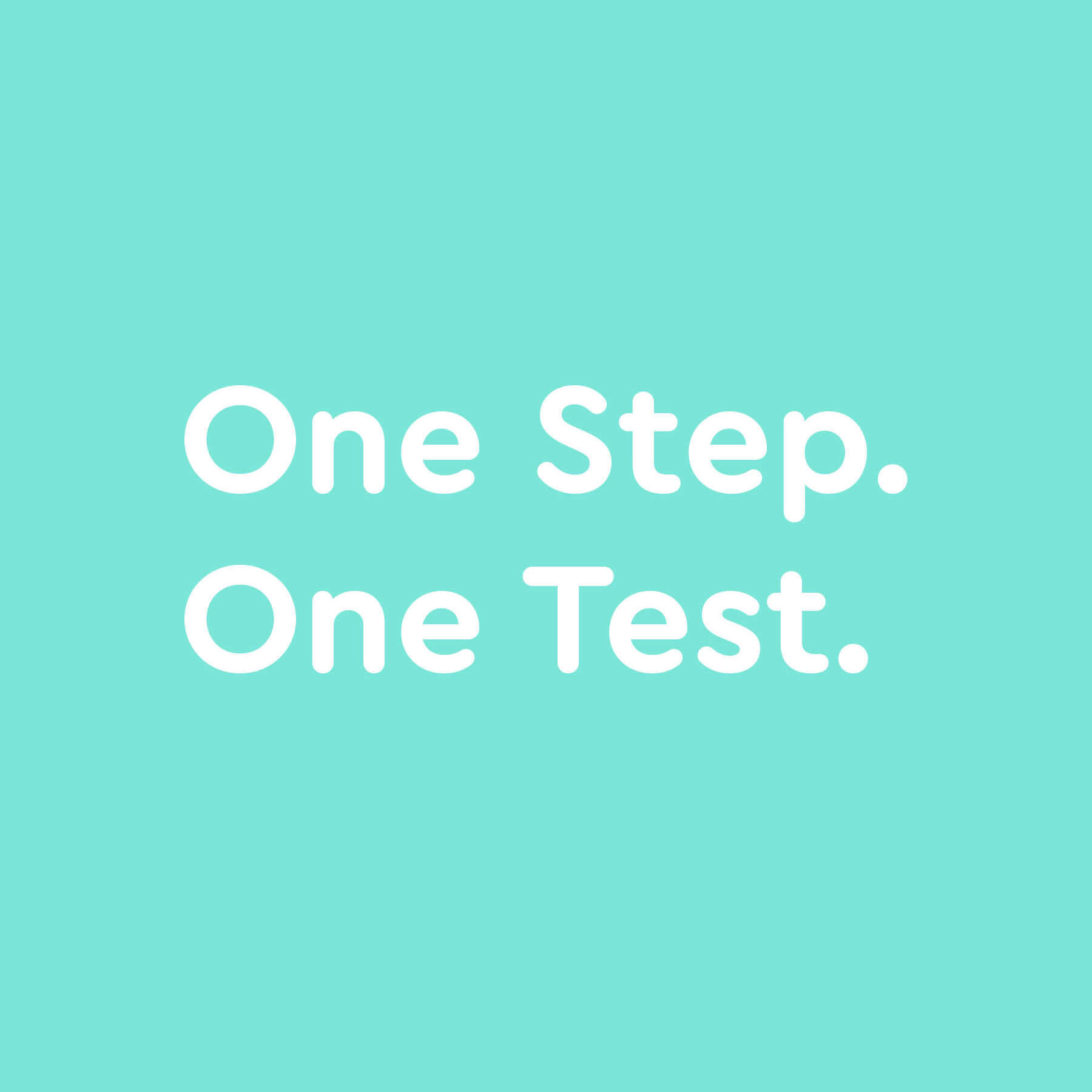 My After Plan One Step One Test