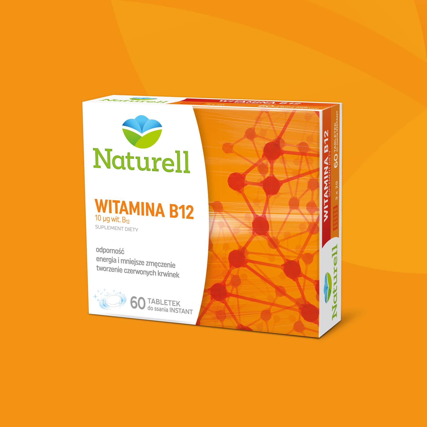 Naturell Vitamin B12 Package Design