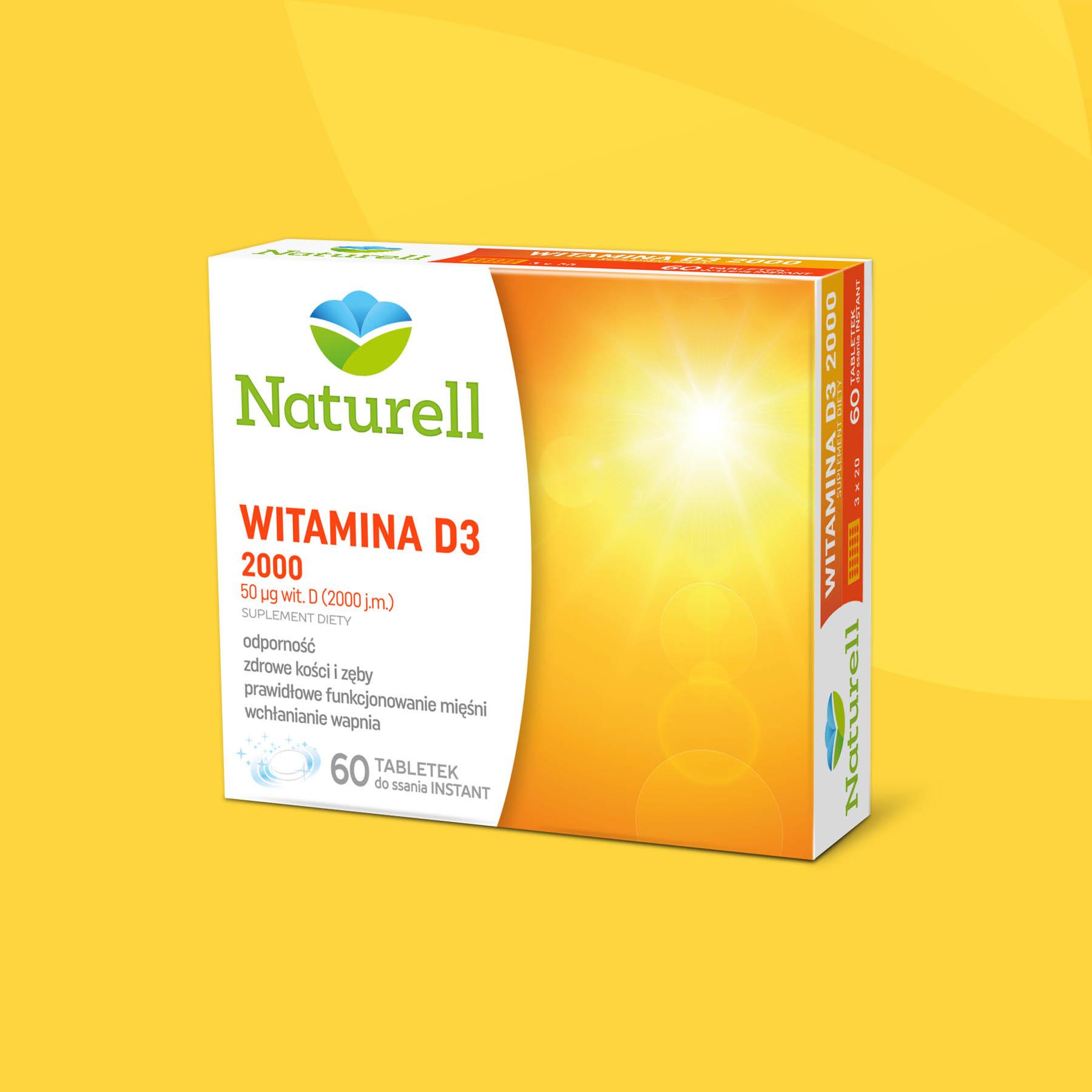 Naturell Vitamin D3 Package Design