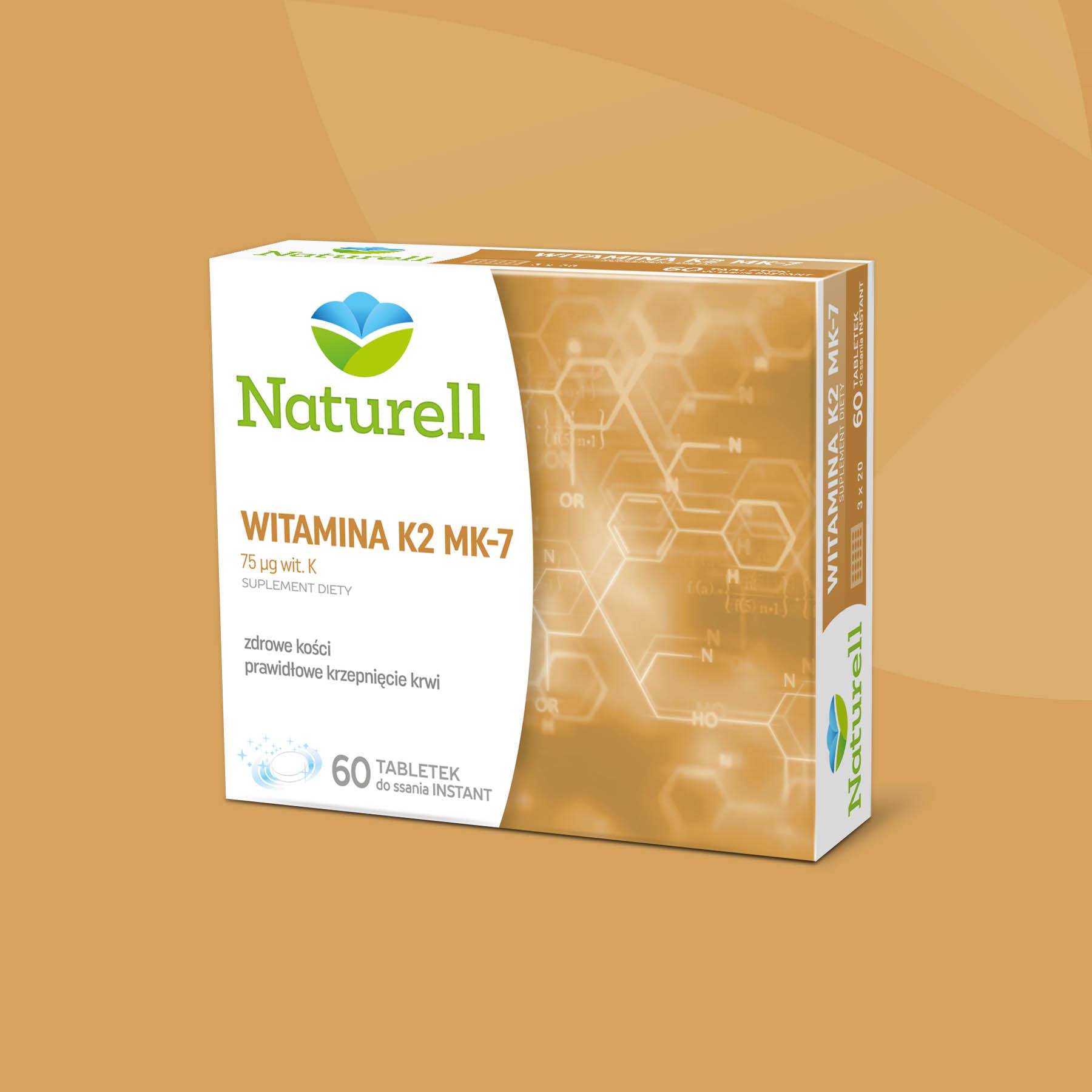 Naturell Vitamin K2 Package Design