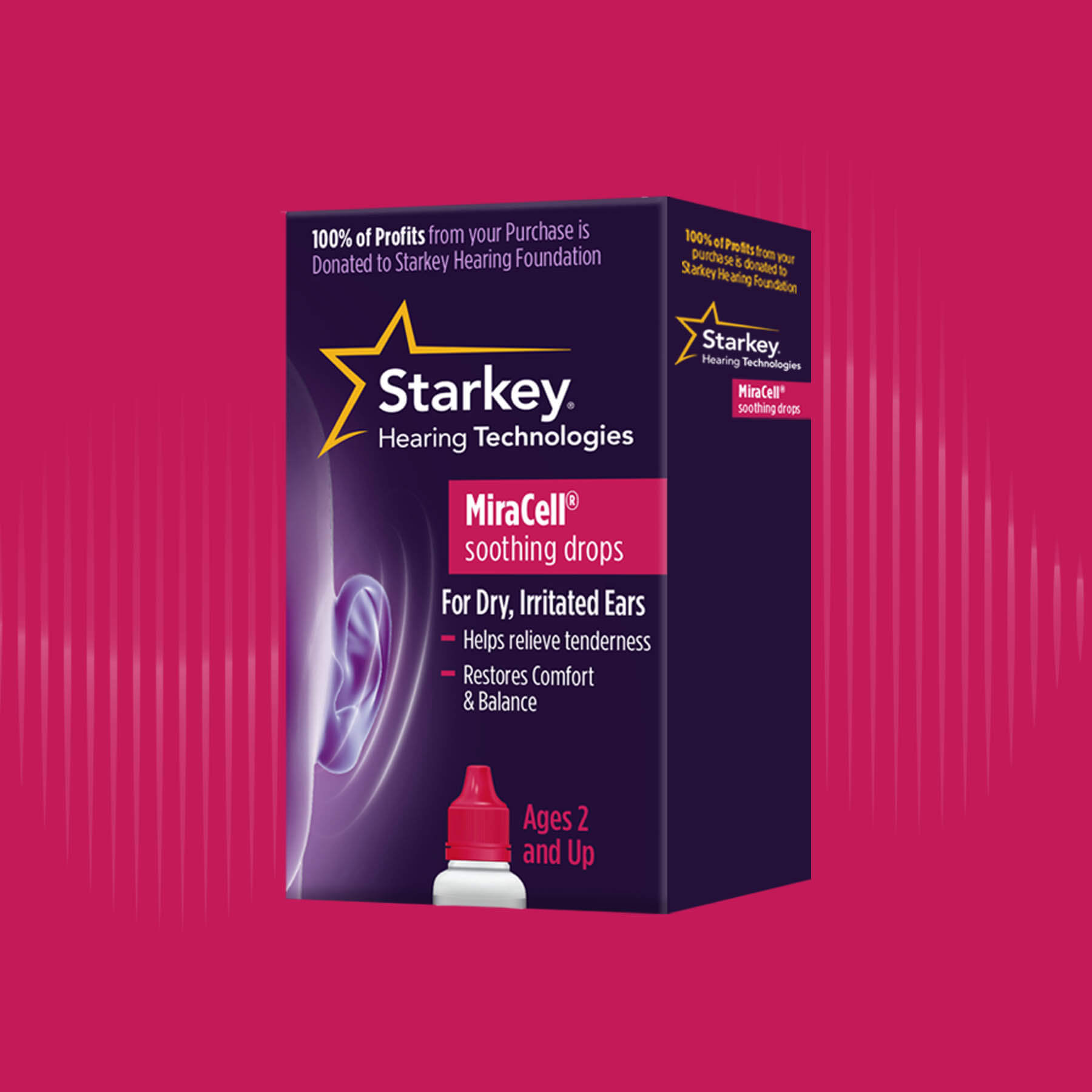 Starkey MiraCell Soothing Drops Package Design