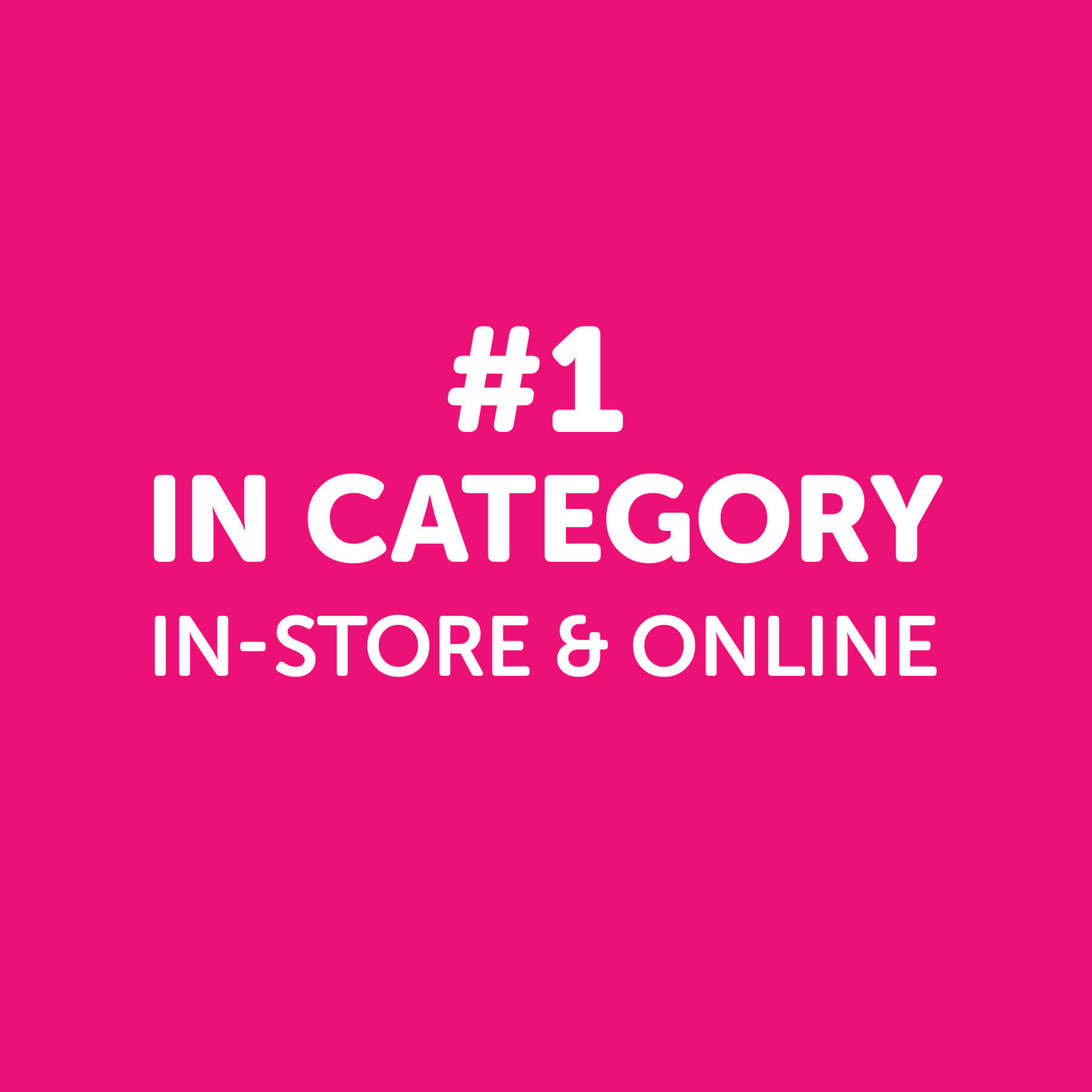 VCF #1 In Category In-Store & Online
